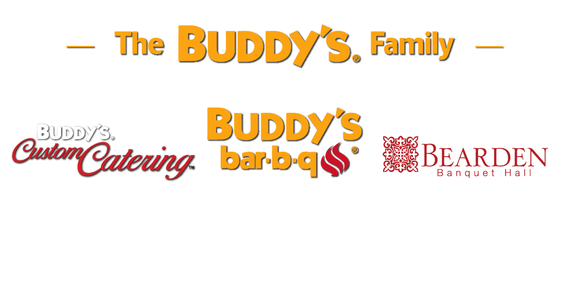 Buddy's Family Logos | Buddy's Bar-B-Q, Buddy's Custom Catering, Bearden Banquet Hall